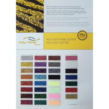 Carta de colores para vinilos Glitter y Pearl Glitter