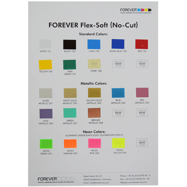 Carta de colores gama Flex-Soft de Forever