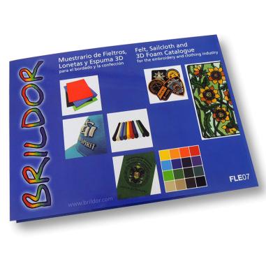 Carta de colores fieltros, lonetas y espuma 3D