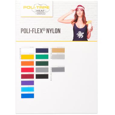 Carta de colores para vinilos Poli-Flex® Nylon de Poli-Tape