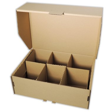 Caja para 6 tazas con separadores