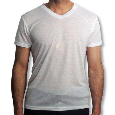 Camiseta con cuello de pico para sublimación