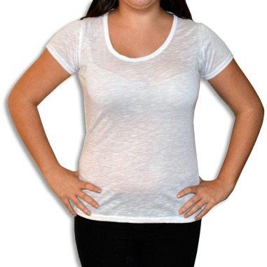 Camiseta de chica para sublimación de 140g tacto algodón