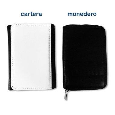 Cartera y monedero 2 en 1 simil piel negro - Anverso cartera y monedero