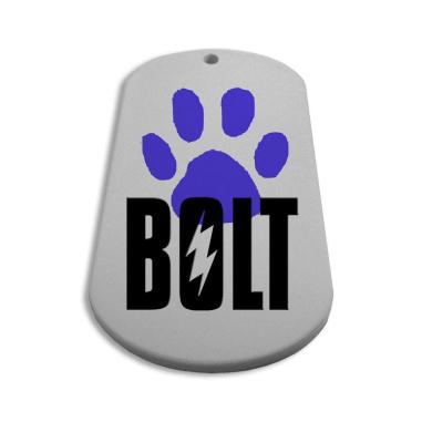 Chapa identificativa de plastico ovalada para mascotas Personalizada