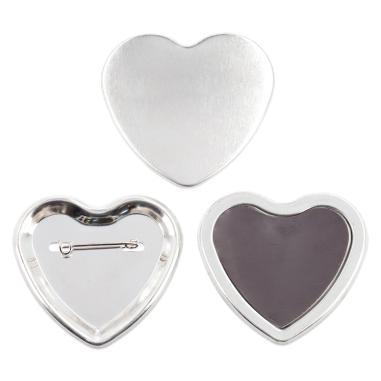 Chapas forma corazón de 57 x 52 mm