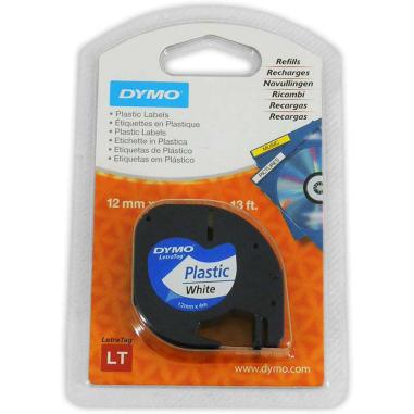 Cinta adhesiva de plástico para marcadora Dymo Letratag LT100-H