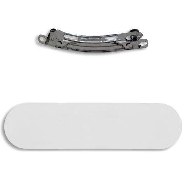 Clip para el pelo con lámina de aluminio sublimable