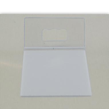 Colgador autoadhesivo de plástico para hasta 900g - Detalle en reverso de panel fotográfico