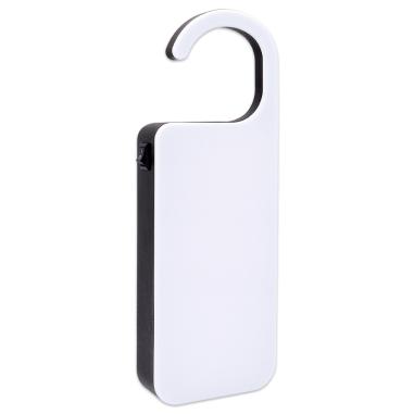 Colgador de puertas con luz para mensajes