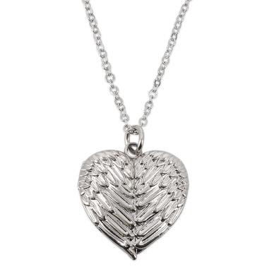 Colgante corazón alas para sublimación con cadena