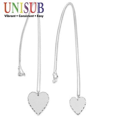 Colgantes con forma de corazón y cadena Chromaluxe