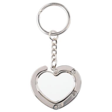 Cuelgabolsos plegable magnético y llavero forma corazón
