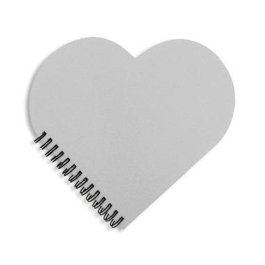 Cuaderno de anillas forma corazón