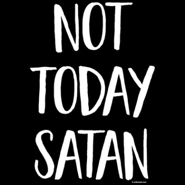 Diseño Transfer Not Today Satan - Pack de 3 uds