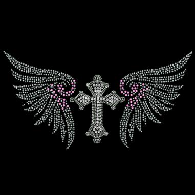 Diseño Pedrería Cruz y alas