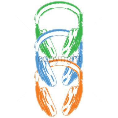 Diseño Transfer Auriculares neón pack de 4 uds