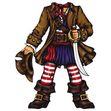 Diseño Transfer Capitan Pirata pack 4 uds