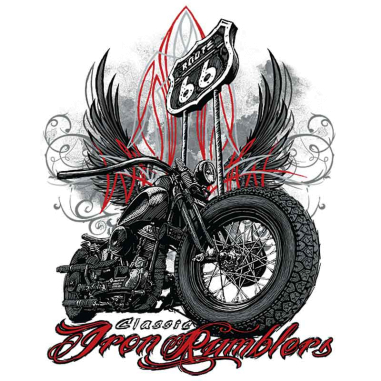 Diseño Transfer Classic Iron Rumblers Route 66 pack 4 uds