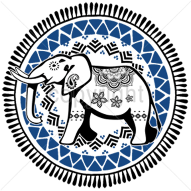 Diseño Transfer Elefante India - Pack 4 uds