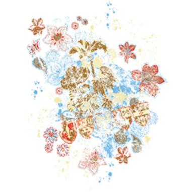Diseño Transfer Flores y Escudos pack 4 uds