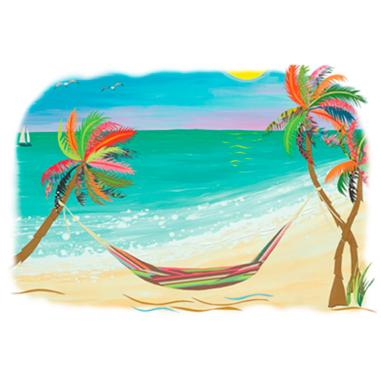 Diseño Transfer Hamaca en palmeras - Pack 3 uds