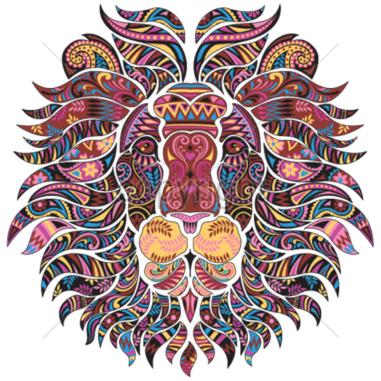 Diseño transfer León mosaico - Pack de 4 uds