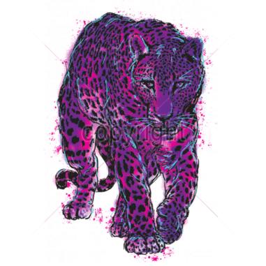 Diseño Transfer Leopardo neon pack 4 uds