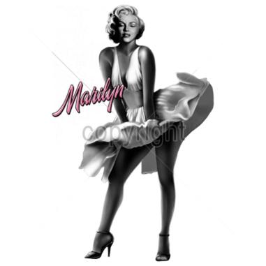 Diseño Transfer Marilyn falda al aire pack 4 uds