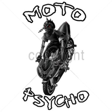 "Diseño Transfer ""Moto Psycho"" - Pack de 4 uds"
