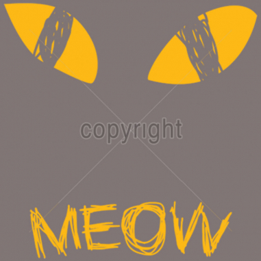 Diseño Transfer Ojos de gato Meow pack 4 uds