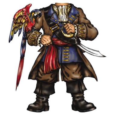 Diseño Transfer Pirata con Loro pack 4 uds