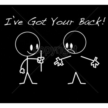Diseño Transfer I've Got Your Back! pack 4 uds