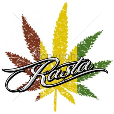Diseño Transfer Rasta marihuana pack 4 uds