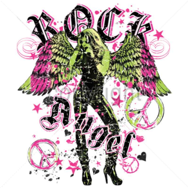 Diseño Transfer Rock Angel pack 4 uds