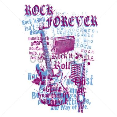 Diseño Transfer Rock forever pack 4 uds