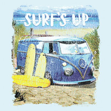 Diseño Transfer Surf's Up Van - Pack de 3 uds
