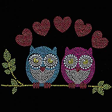 Diseño Pedrería Búhos enamorados