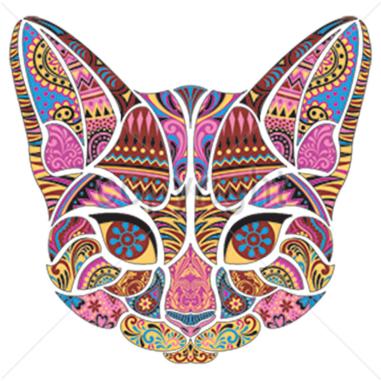 Diseño Transfer Gato Mosaico - Pack 4 uds