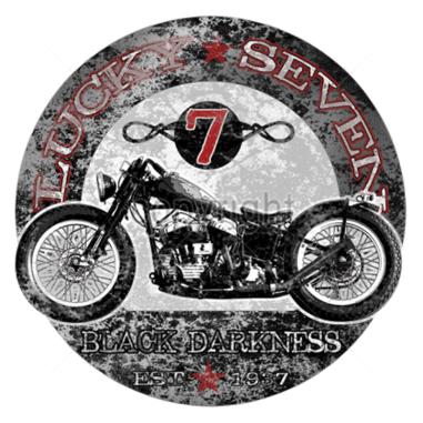 "Diseño Transfer moto ""Black darkness"" pack 4 uds"