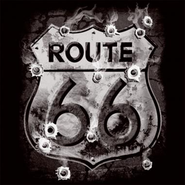 Diseño Transfer Ruta 66 y agujeros de bala