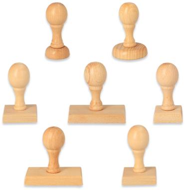 Empuñaduras de madera para sellos
