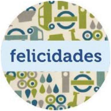Etiquetas adhesivas Felicidades Ciudad