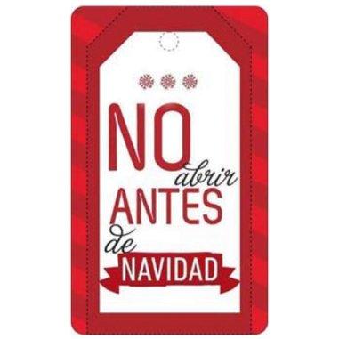 """Etiquetas adhesivas Feliz Navidad """"No Abrir"""""""