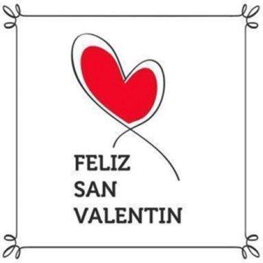 Etiquetas adhesivas Feliz San Valentín