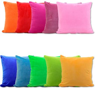Fundas de tejido felpa para cojines con reverso de color