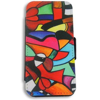 Funda carcasa de tela y simil piel para iPhone5/5s