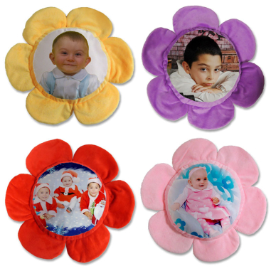 Fundas de cojines forma flor personalizadas