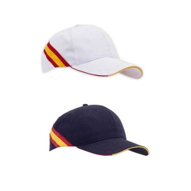 Gorra con bandera España trasera
