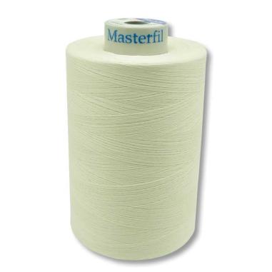 Hilo de coser AM60/2 Algodón mercerizado 100% - 10.000m Blanqueado cono